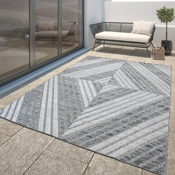 In- & Outdoor-Teppich 3-D-Muster Balkon
