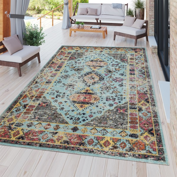 In- & Outdoor-Teppich Orientalisches Design Bunt